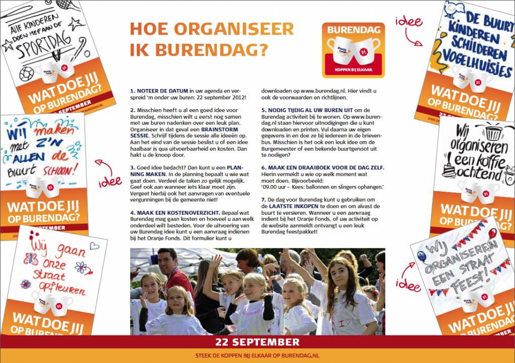 Burendag 2012 folder | © Romijn Design
