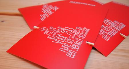 Kerstkaart voor Bouwbedrijf van Rooijen Balk | © Romijn Design