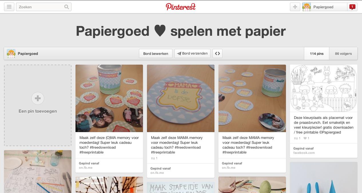 Pinterest Papiergoed